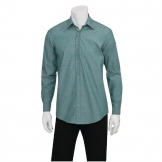 Chef Works Chambray Mens Long Sleeve Shirt Green Mist S