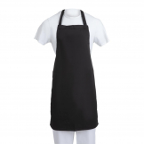 Whites Bib Apron  Polycotton Black