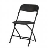 ZOWN Alex-K Folding Sidechairs Black (Pack of 8)
