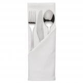 Mitre Essentials Occasions Polyester Napkins White (Pack of 10)