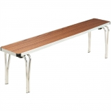 Gopak Contour Stacking Bench Teak Effect 5ft
