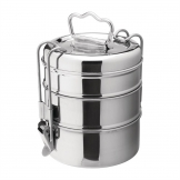 Utopia 3 Tier Tiffin Tin 115mm (Pack of 6)
