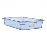 Aravan ABS Food Storage Container Blue GN 1/1 100mm