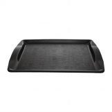 Kristallon Polypropylene Handled Fast Food Tray Black 420mm