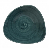 Churchill Stonecast Patina Triangular Bowls Rustic Teal 21oz 235mm (Pack of 12)