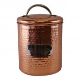 Hammered Copper Biscuit Tin, 17x14cm