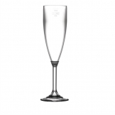 BBP Polycarbonate Champagne Flutes 200ml CE Marked at 175ml (Pack of 12)