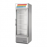 True 1 Glass Door 538L Upright Display Fridge Aluminium GDM-19T-HC-LD-Alu