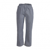 Whites Unisex Vegas Chefs Trousers Black and White Check S
