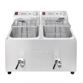 Buffalo Twin Tank Twin Basket 2x8Ltr Countertop Fryer with Timers 2x6kW