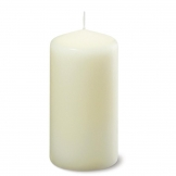 Ivory Pillar Tall 5inch Candle