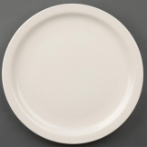 Olympia Ivory Narrow Rimmed Plates 255mm (Pack of 12)