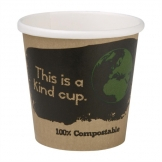 Fiesta Green Compostable Espresso Cups Single Wall 113ml / 4oz (Pack of 50)