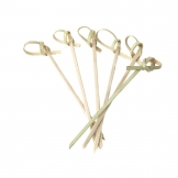 Looped Biodegradable Bamboo Skewers 90mm