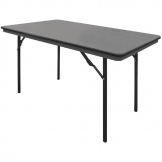 Bolero ABS Rectangular Folding Table Grey 4ft (Single)