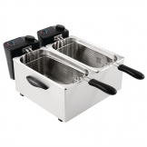 Caterlite Light Duty Twin Tank Twin Basket Countertop Electric Fryer 2x2kW