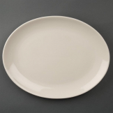 Olympia Ivory Oval Coupe Plates 330mm (Pack of 6)
