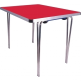 Gopak Contour Folding Table Red 3ft