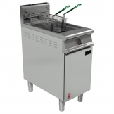 Falcon Dominator Single Tank Twin Basket Free Standing Natural Gas Filtration Fryer G3840F