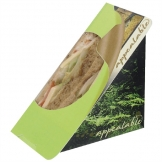 Colpac Recyclable Self-Seal Sandwich Wedges Fern Print (Pack of 500)