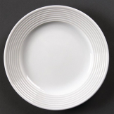 Olympia Linear Wide Rimmed Plates 150mm (Pack of 12)