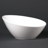 Lumina Fine China Oval Sloping Bowls 202mm (Pack of 6)