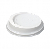 White Lid To Fit 340ml/455ml Huhtamaki Hot Cup (Pack of 1000)