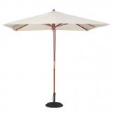 Bolero Square Pulley Parasol 2.5m Diameter Cream