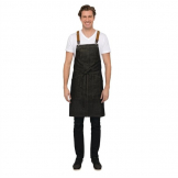 Chef Works Urban Berkeley Denim Brace Bib Apron Black