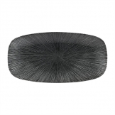 Churchill Studio Prints Agano Oblong Chefs Plates Black 355 x 189mm (Pack of 6)