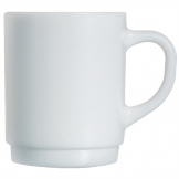 Arcoroc Opal Stackable Mugs 290ml (Pack of 6)
