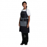 Chef Works Urban Manhattan Bib Apron Indigo