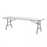 ZOWN XL240 Folding Utility Table 8ft Grey