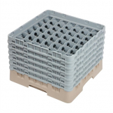 Cambro Camrack Beige 49 Compartments Max Glass Height 298mm