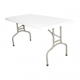 Bolero Rectangular Folding Table 5ft White