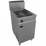 Falcon Chieftain Single Tank Twin Basket Free Standing Natural Gas Fryer G1838X