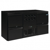 Polar U-Series Four Drawer Back Bar Counter and Wine Fridge
