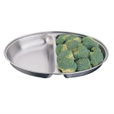 Olympia Oval Vegetable Dish Two Compartments 252mm