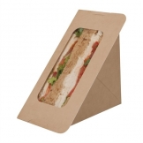 Colpac Recyclable Paperboard Self-Seal Sandwich Wedges With PLA Window