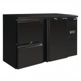 Polar U-Series Single Door Back Bar Counter Fridge with Drawers
