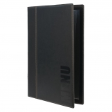 Securit Contemporary Menu Cover Black A4