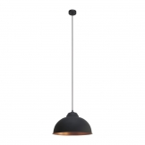Eglo Truro 2 Steel Vintage Shade Pendant Black and Copper