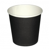 Fiesta Disposable Espresso Cups Single Wall Black 112ml / 4oz (Pack of 50)