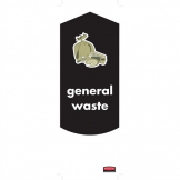 Rubbermaid General Waste Stickers (Pack of 4)