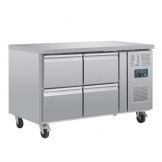 Polar U-Series Four Drawer Gastronorm Counter Fridge