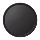 Cambro Camtread Fibreglass Round Non-Slip Tray Black 355mm