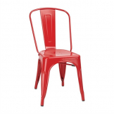 Bolero Bistro Steel Side Chair Red (Pack of 4)