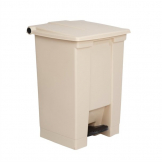 Rubbermaid Step On Pedal Bin Beige 45.5Ltr