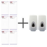 SALE OFFER 6 Rubbermaid Moisturising Foam Soaps and 2 FREE Dispensers