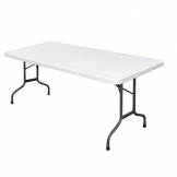Bolero Rectangular Folding Table 6ft White